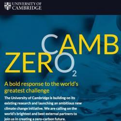 Cambridge Zero: A bold response to the world's greatest challenge